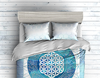 Flower of life bedding set
