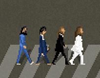 The Beatles Abbey Road Pixel Art