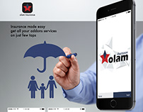 UX-UI Mobile Application Mockup - Insurance Company