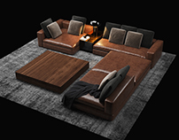 First time modeling couches.