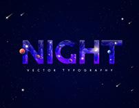 Night Typography