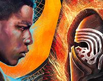 Star Wars : The Force Awakens posters Light + Dark side