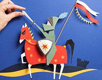 Cavaliere in Papercut