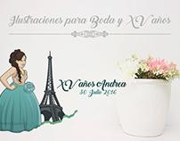 Wedding and XV Illustrations