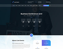 Live Event - Conference Muse Template