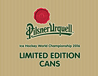 The limited edition cans for Pilsner Urquell