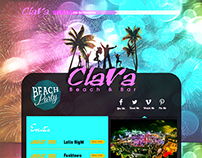 Clara Nightclub WebDesign