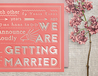 Typography婚卡設計