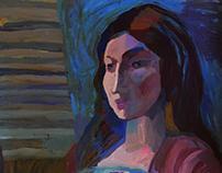Автопортрет в полоску | Self-portrait in stripes