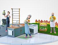 3D ads animation