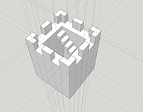 "Chess Set Design 02 ""Brutalist"" WIP"