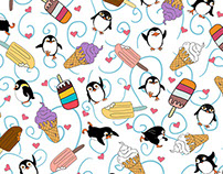 Penguins Love Ice Cream/Pattern