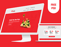 Online Pizza psd free template
