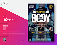 Free Modern Fitness Flyer Template