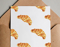 Pastries Printed Illustration