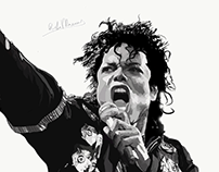 Michael Jackson | vector abstract portrait