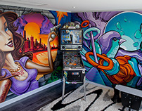 Private Gamesroom - Mural Art by Sofles