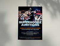 Melbourne United: Superhoodz Audition Posters