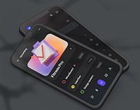 Productivity Dark Mobile App