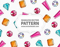 Gems Vector Seamless Pattern