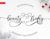 Beauty Friday Modern Calligraphy Font