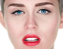Miley Cyrus Hyperrealistic Illustration
