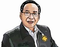 Jero Wacik Minister Of Indonesia illustration