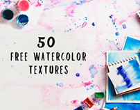 FREE 50 Vibrant Watercolor Textures