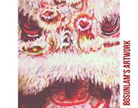 Chinese Lion (White fur)