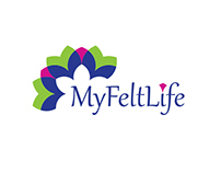 "Logo, visiting card аnd pattern for ""MyFeltLife"""