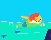 Character Swimming