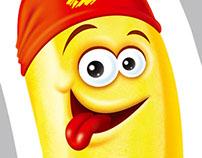 Frozen banana juice