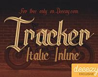FREE Font - Tracker Italic Inline