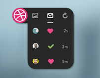 Dribble widget