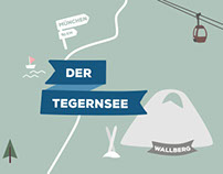 Map Illustration – Ferienregion Tegernsee