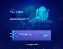 AirMining Cryptocurrency Home Page Design