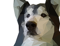 Geometric Dog Illustration