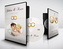 Wedding DVD Cover and Label Template Vol.10
