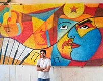 Movida Bar Wall Painting