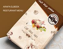 Restaurant Menu - Arafa Elbeek