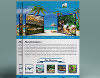Flyer for Travel or Tourism