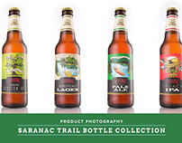 Saranac Bottles - Product Photography