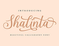 FREE | Shalinta Modern Calligraphy Font