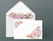 Floral illustration pattern for Envelope design