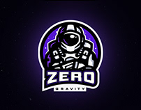 Astronaut Mascot Logo Presentation