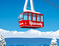 Heavenly Ski Resort Poster