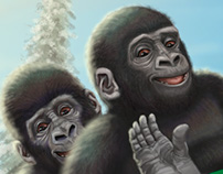 Sleigh-Riding Gorillas