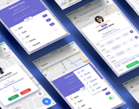 iPhone - Friends Meeting & Tracking App - Card Designs
