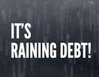 "Infografia ""It's raining debt !"""