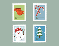 Christmas stamps vector art